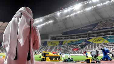 Blick ins Khalifa International Stadium in Doha © imago images/Belga