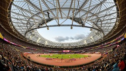 London Stadium - Das Olympia-Stadion in London © dpa - Bildfunk Fotograf: Rainer Jensen/dpa