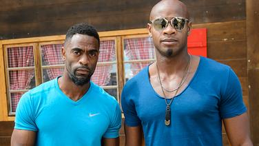 Tyson Gay (l.) und Asafa Powell © picture-alliance / dpa Foto: Jean-Christophe Bott